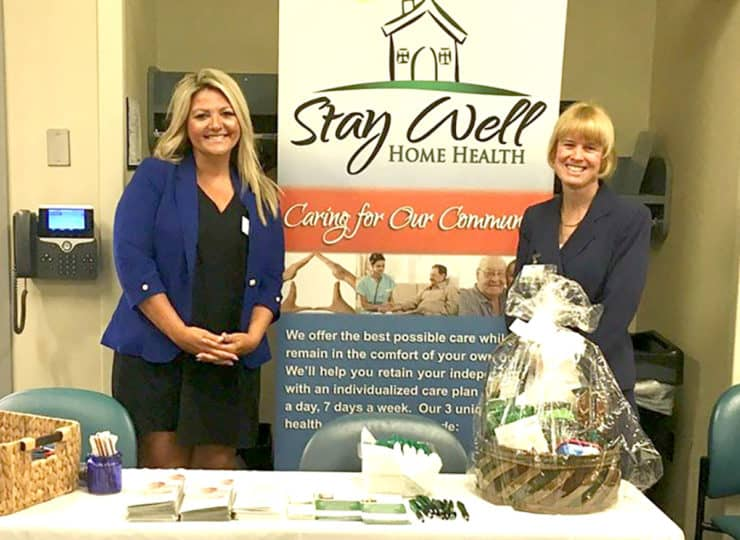Stay Well Home Health Employees at Trade Show
