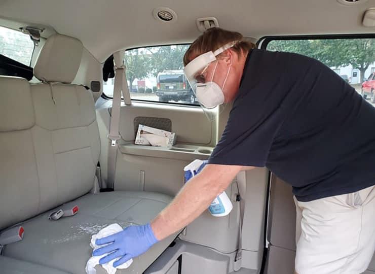 CVACL Man Cleaning Van Seats