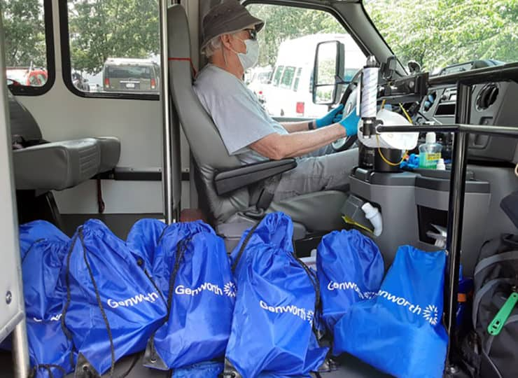 CVACL Man Driving Delivery Truck