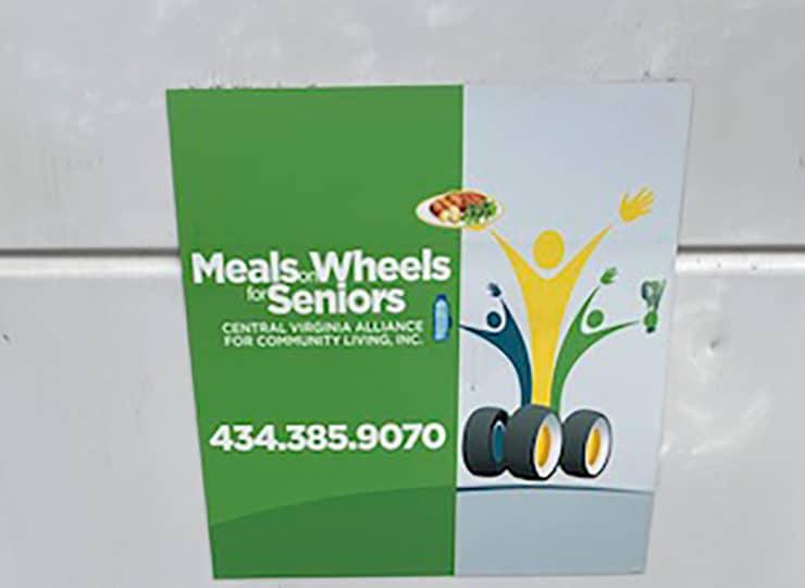 CVACL Meals on Wheels Logo on Van