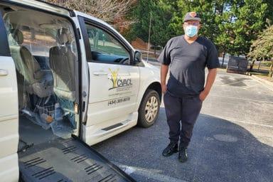 CVACL Van Driver Wearing Mask