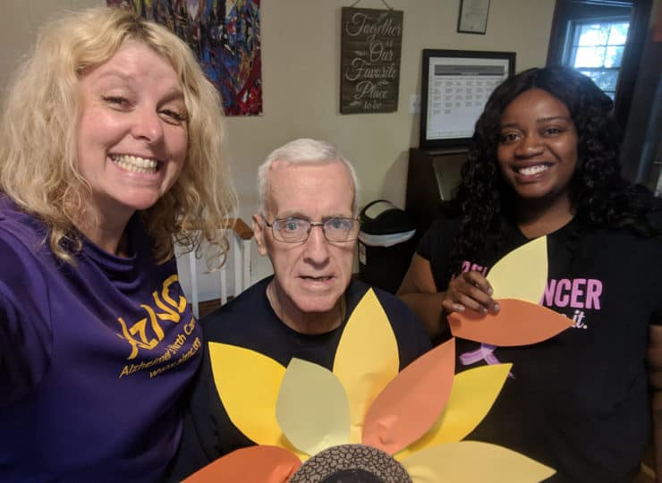 Lynns Care Homes Elderly Man with Paper Flower