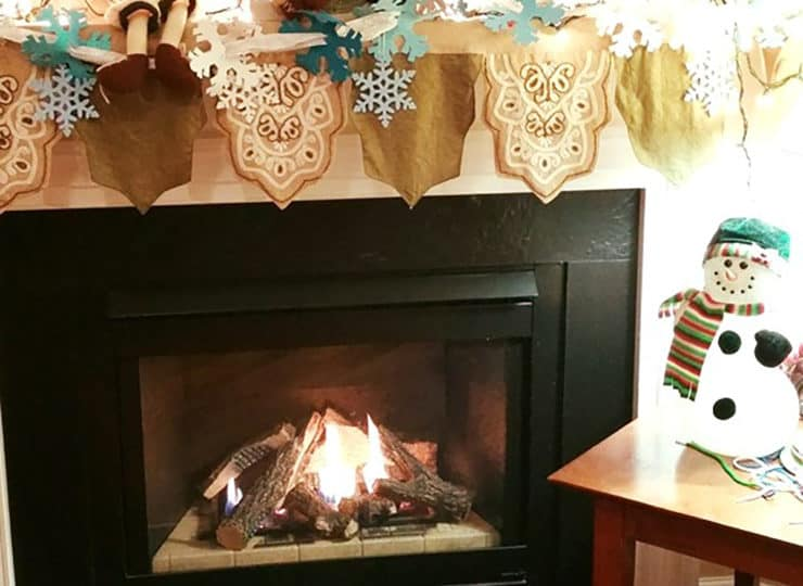 Lynns Care Homes Fireplace