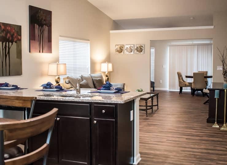 Redwood Sugarcreek Township Kitchen and Living Room
