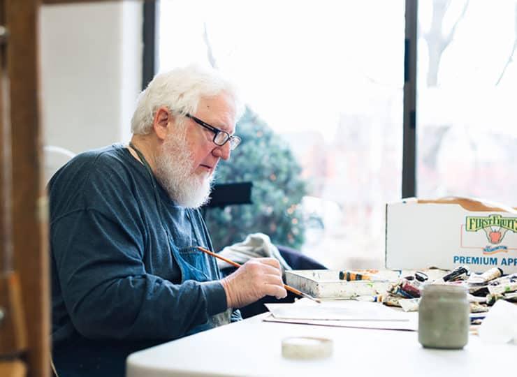 Baker Hunt Art and Cultural Center Senior Man Painting