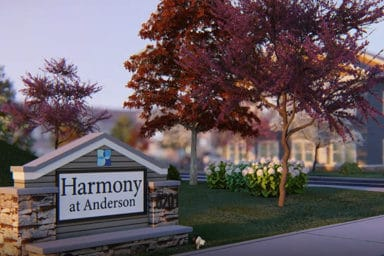 Harmony at Anderson Sign