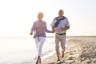 Intracoastal Realty Couple Walking on Beach