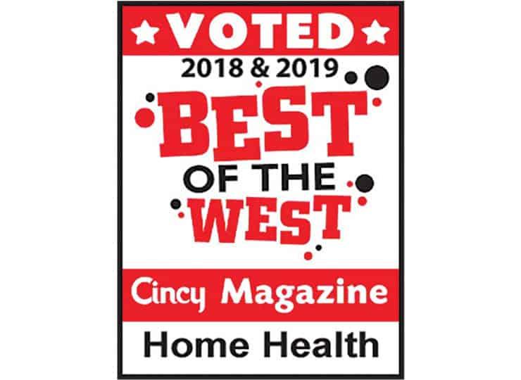 Visiting Angels West Cincinnati Best of the West Award