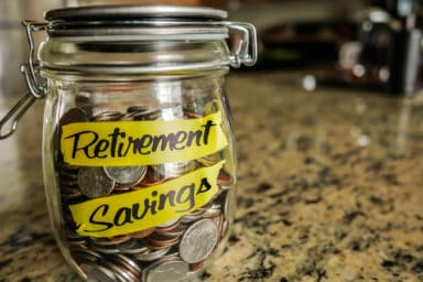Retirement funds in a jar