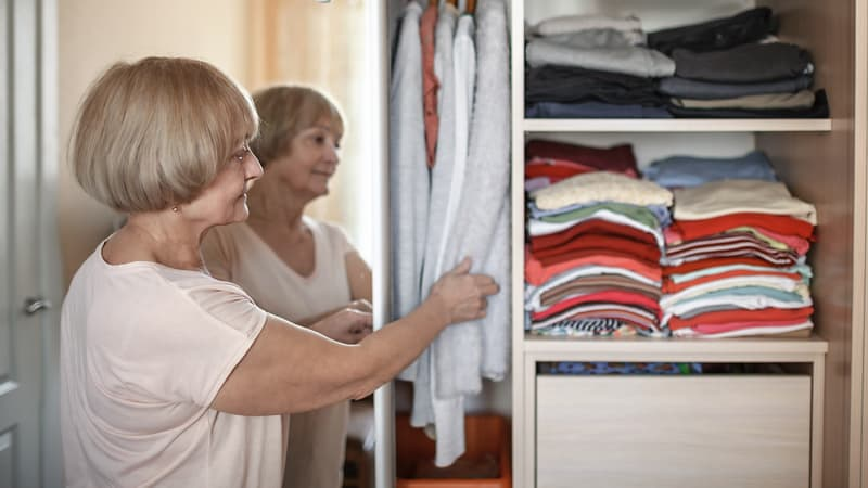 Spring cleaning tips for seniors include cleaning out your closet
