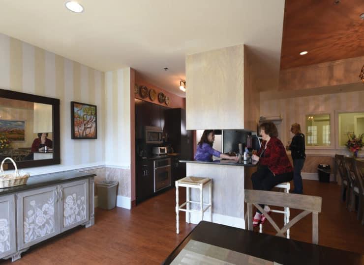 Johnston Health SECU Hospice House Family Kitchen Dining Area