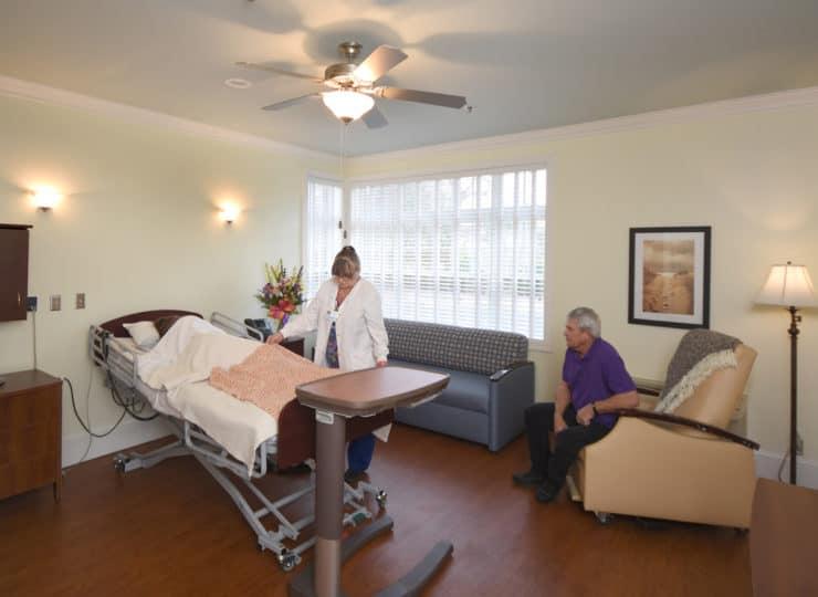 Johnston Health SECU Hospice House Patient Room