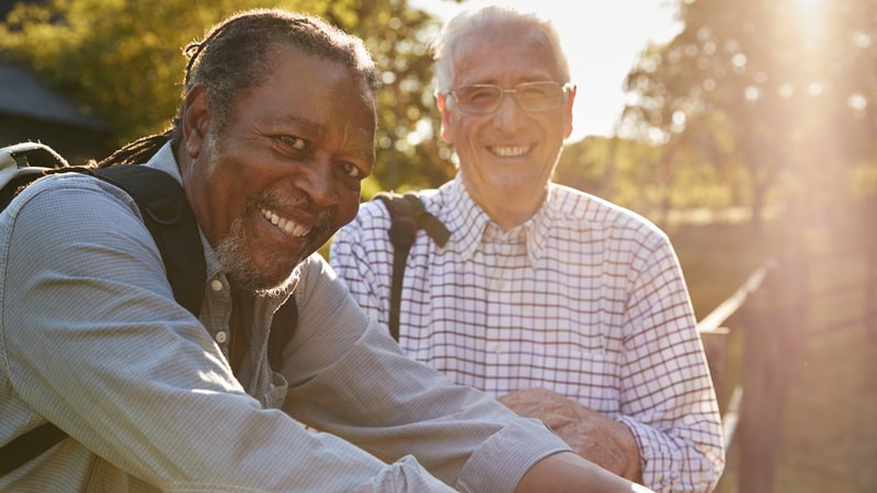 These senior men figured out how to make new friends in older age