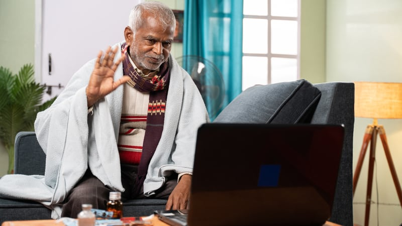 Senior man knows how to prepare for a telehealth visit