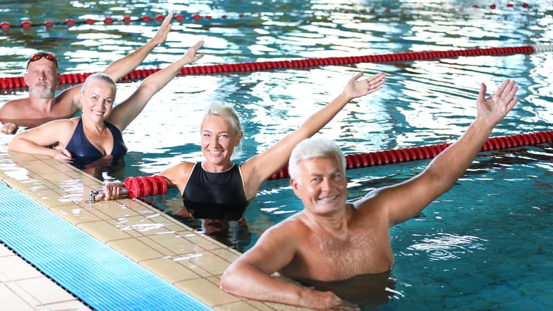 Get the most out of life like these seniors doing water aerobics