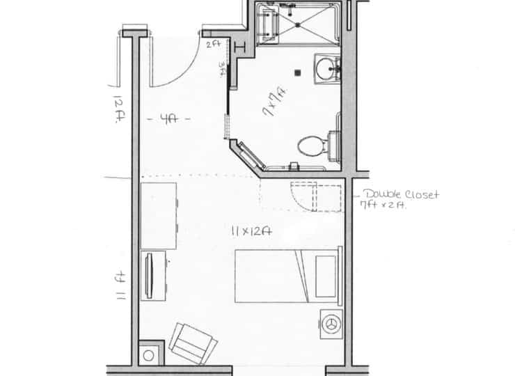 Carrington Cottage Memory Care Center Private Room Floor Plans
