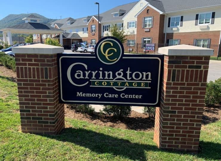 Carrington Cottage Memory Care Center Sign