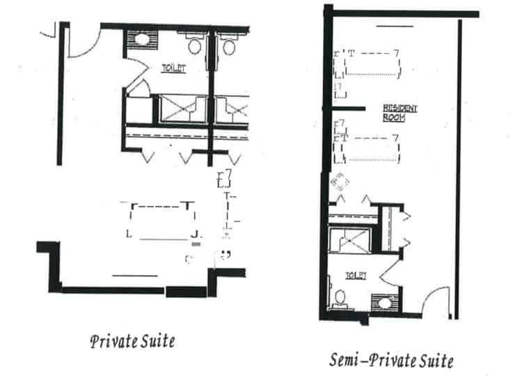 Carrington Cottage Memory Care Center Suite Floor Plans