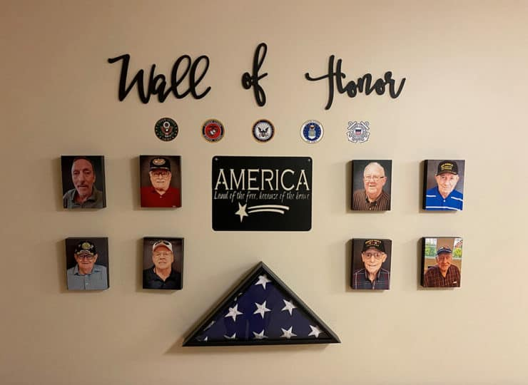 Carrington Cottage Memory Care Center Wall of Honor