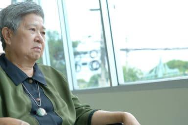 Senior woman displaying signs of elder self-neglect