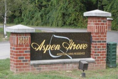 Aspen Grove sign