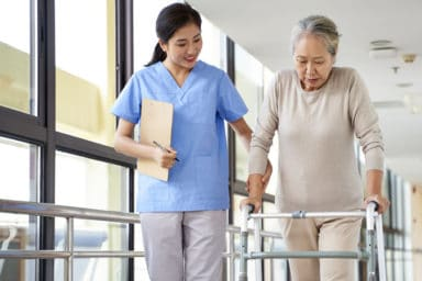 Does medicare pay for assisted living services like what this woman is receiving?