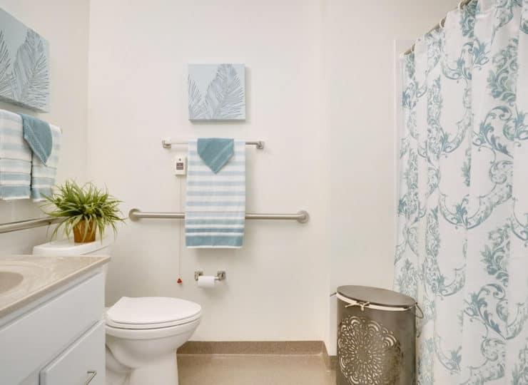 Rittenhouse Village at Valparaiso memory care bathroom