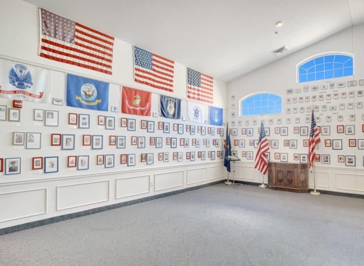 Rittenhouse Village at Valparaiso veterans honorary wall