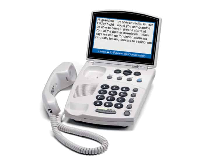 Virginia Department for the Deaf and Hard of Hearing CapTel Phone