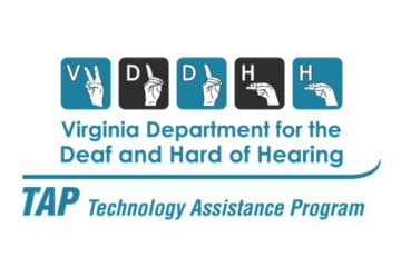 Virginia Department for the Deaf and Hard of Hearing Logo