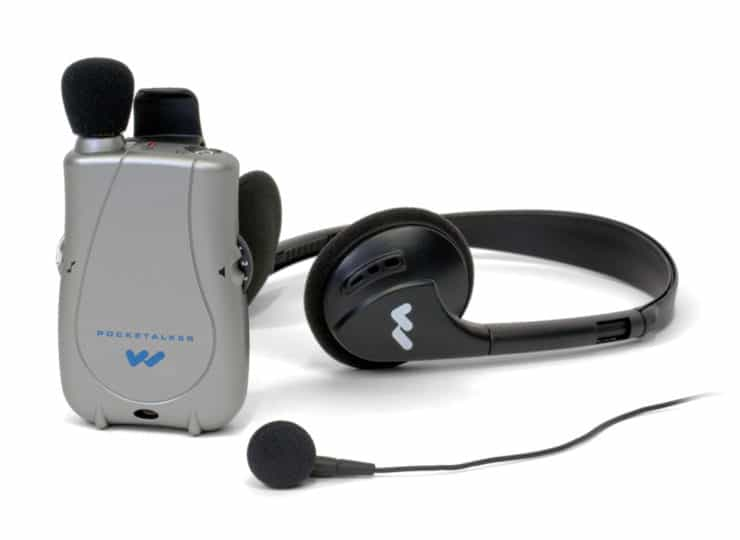 Virginia Department for the Deaf and Hard of Hearing Pocket Talker with Headphones